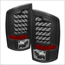 Spyder Black LED Tail Lights 02-06 Dodge Ram