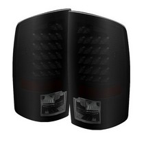 Spyder Black Smoked LED Tail Lights 02-06 Dodge Ram
