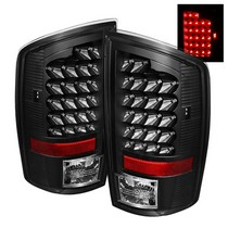 Spyder Black LED Tail Lights 07-08 Dodge Ram