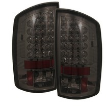 Spyder Smoked LED Tail Lights 02-06 Dodge Ram