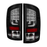 Spyder Version 2 Black LED Tail Lights 02-06 Dodge Ram