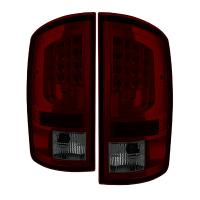 Spyder Version 2 Red Smoked LED Tail Lights 02-06 Dodge Ram