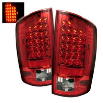 Spyder Red Clear LED Tail Lights 07-08 Dodge Ram