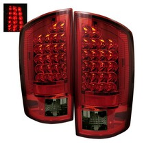 Spyder Red Smoked LED Tail Lights 07-08 Dodge Ram