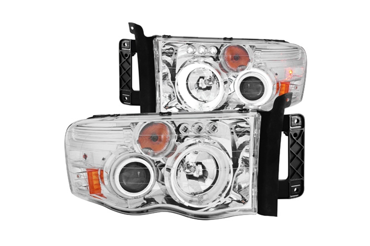 Anzo Chrome CCFL Projector Headlights 02-05 Dodge Ram