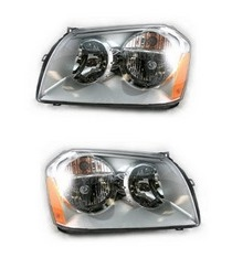 D-Lab Chrome Replacement Headlights 05-07 Dodge Magnum