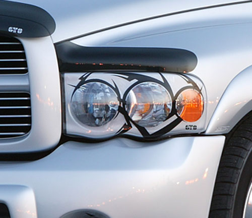 GTS Pro-Beam Tribal Headlight Covers 02-05 Dodge Ram