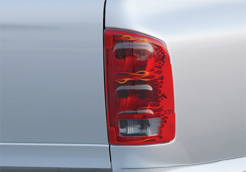 GTS Pro-Beam Flames Tail Light Covers 02-06 Dodge Ram