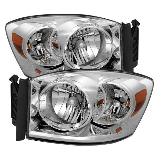 XTune Chrome Crystal Headlights 06-08 Dodge Ram