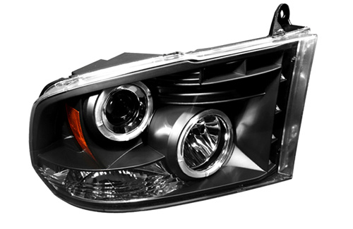 IPCW Projector Black Headlights 09-18 DODGE RAM