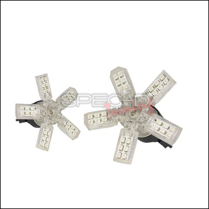 Spec-D 3157 5 Spoke Red 40SMD LED Bulbs Pair
