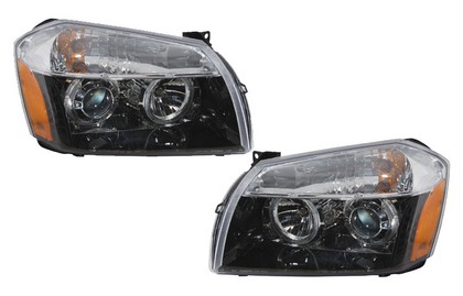 D-Lab Black Projector Headlights 05-07 Dodge Magnum