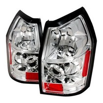 Spec-D Chrome Clear Lens Tail Light Set 05-08 Dodge Magnum