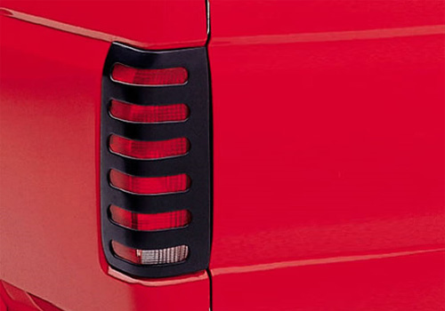 Lund Black Paintable Slotted Tail Light Covers 02-06 Dodge Ram