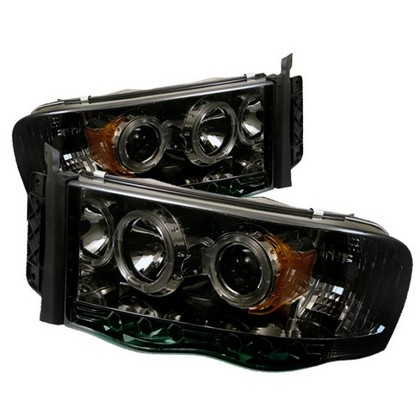 Spyder LED Projector Smoke Headlights 02-05 Dodge Ram
