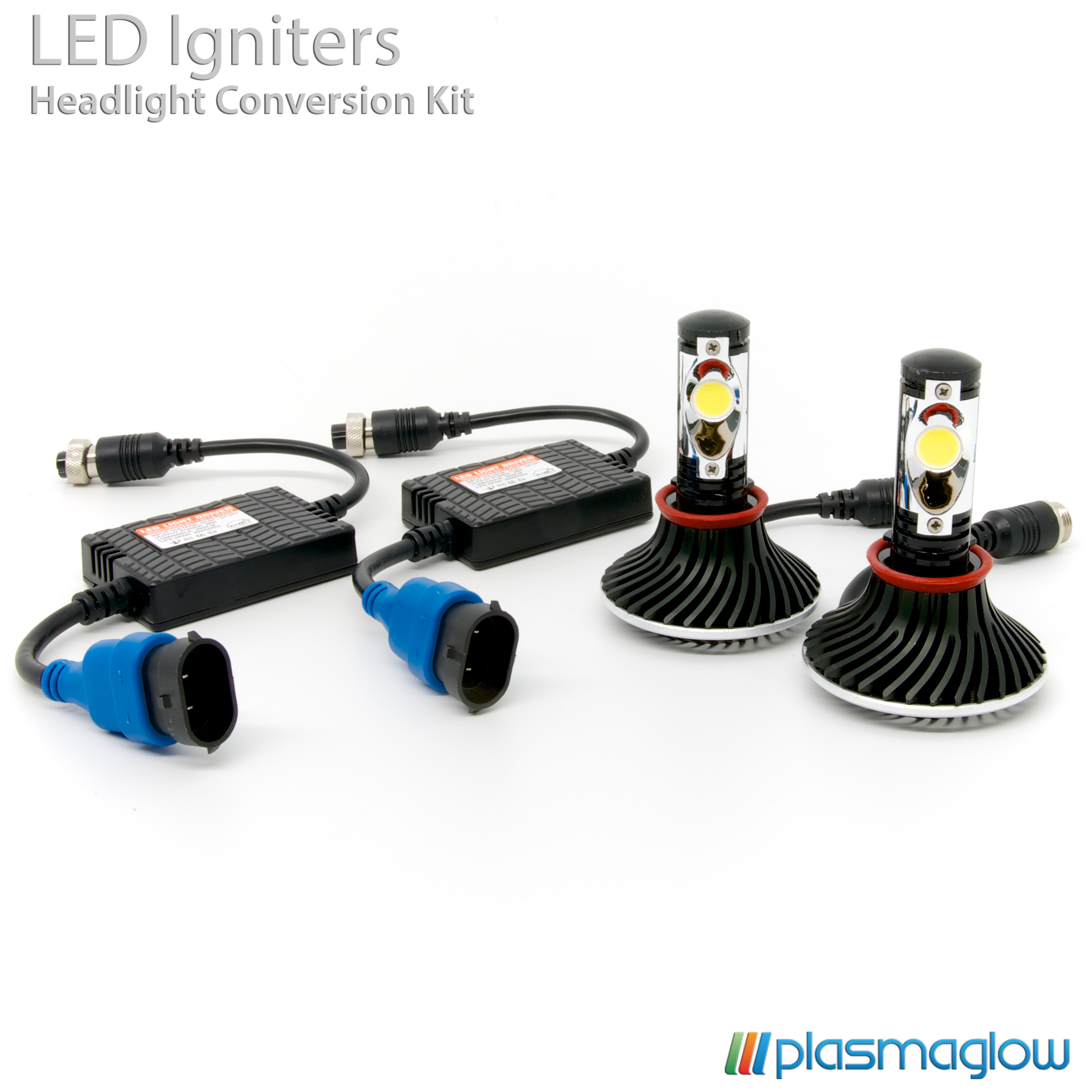 Plasmaglow 9006 Igniters LED Headlight Conversion Kit