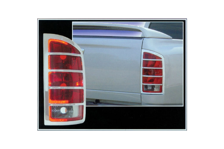 QAA Chrome Tail Light Guards 02-06 Dodge Ram