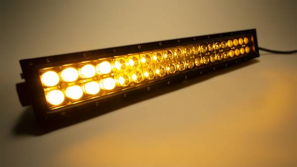 Amber/White Dual Row 20-Inch Straight Cree Led Light Bar