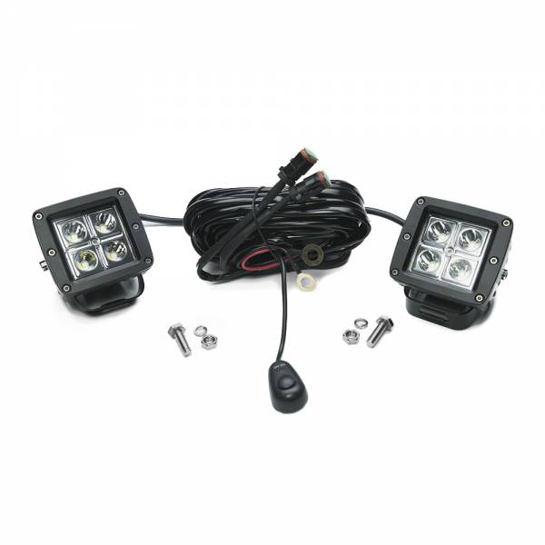 Chrome Series 3-Inch Cube Cree Led Lights Pair