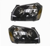 D-Lab Black Replacement Headlights 05-07 Dodge Magnum