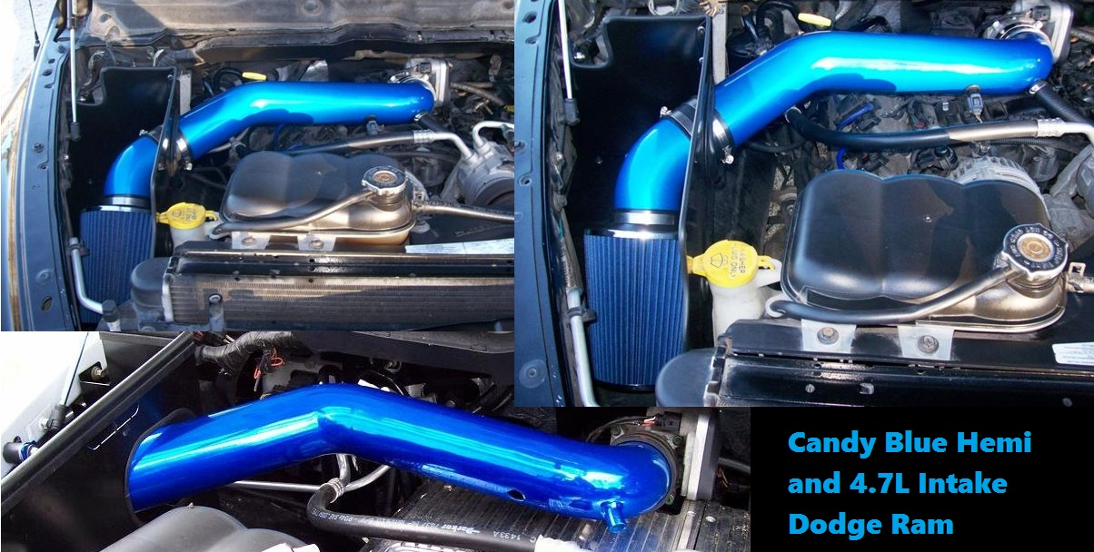 3SP Powdercoated Long Tube Intake System 03-08 Dodge Ram 5.7L