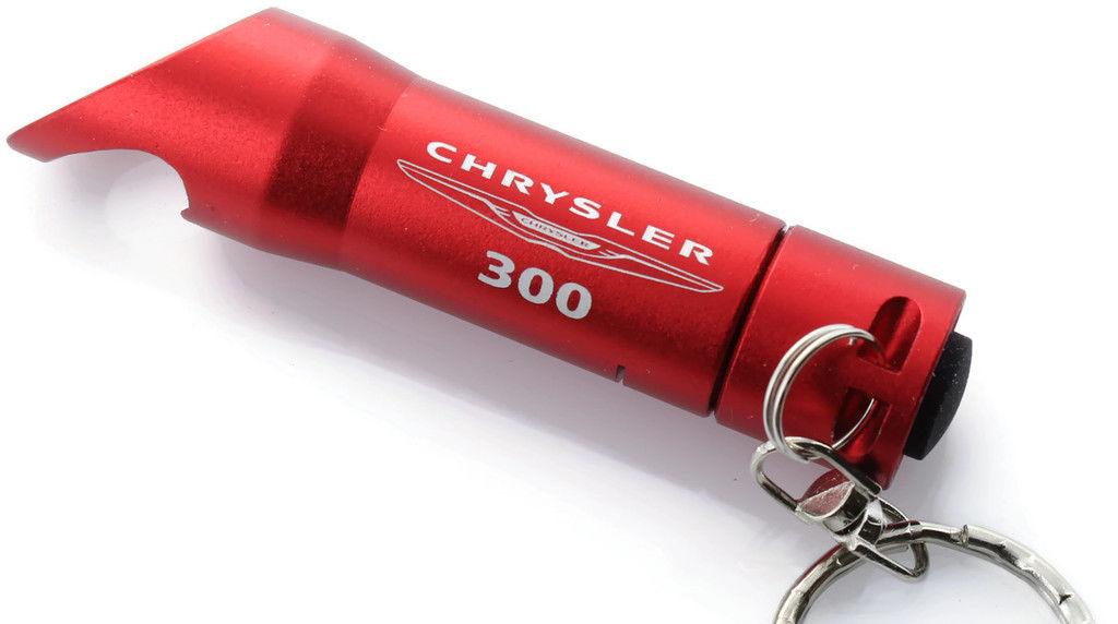 Chrysler 300S Black LED Flashlight Bottle Opener Key Chain Officially Licensed