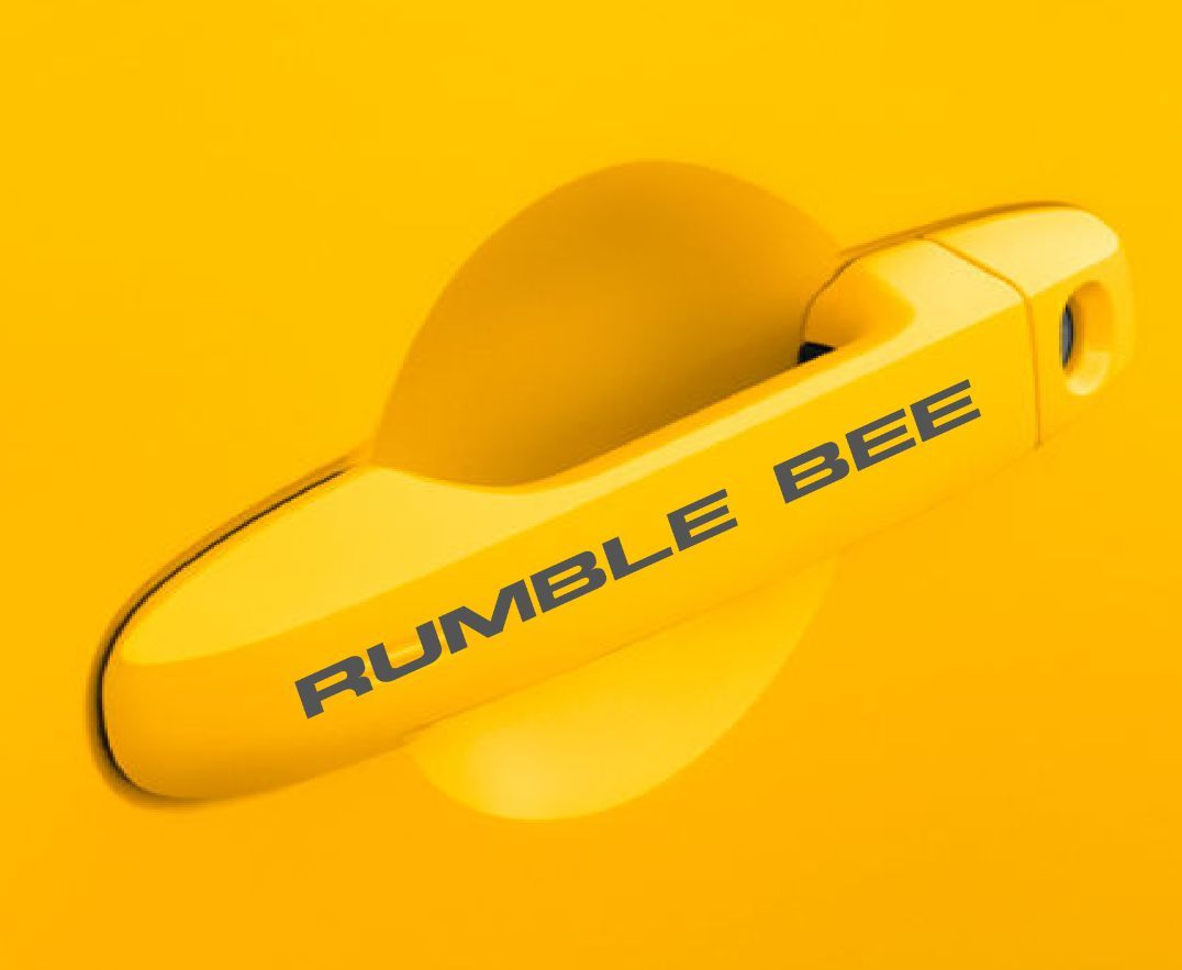 """Rumble Bee"" Custom Door Handle Decals"