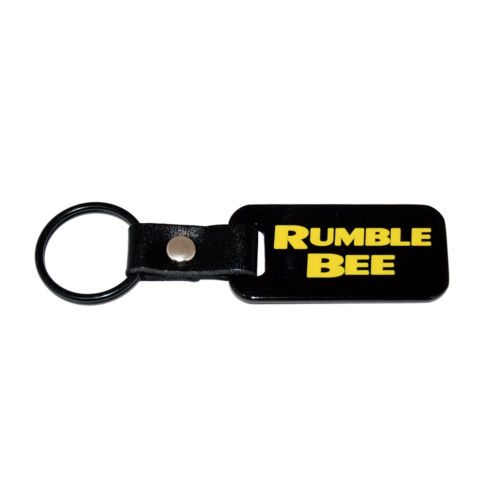 """Rumble Bee"" Black Key Chain with Yellow Lettering"