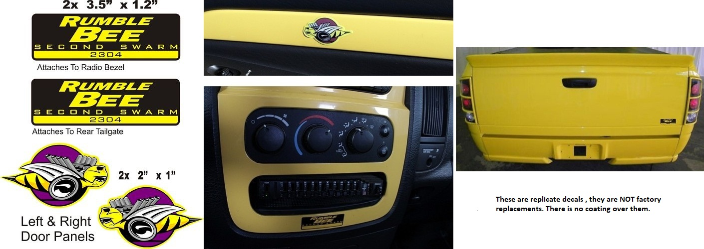 """Rumble Bee"" Custom Interior Exterior Decal Kit"