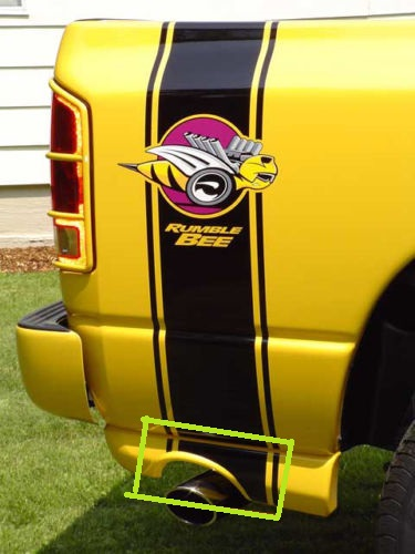 """Rumble Bee"" Custom Body Stripe Extension Decals"