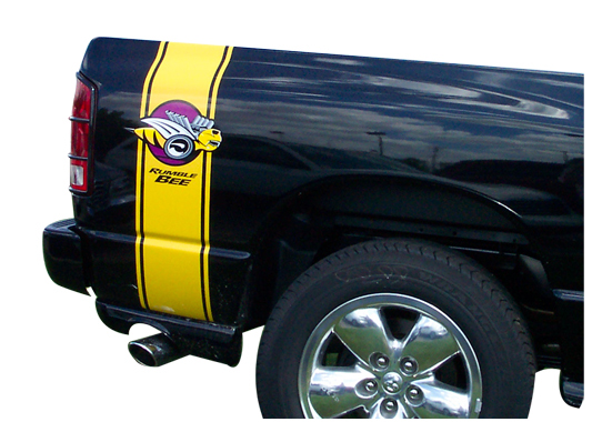 """Rumble Bee"" Body Stripe Decals 2004-05 Dodge Ram Rumble Bee"