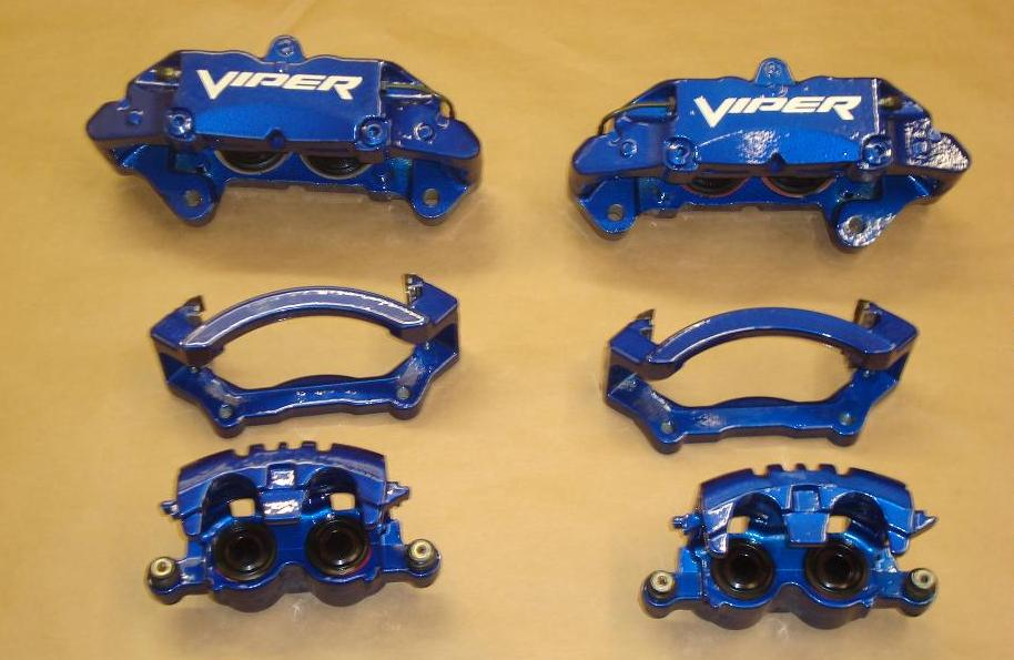 Mopar Powdercoated Brake Calipers 04-06 Dodge Ram SRT-10