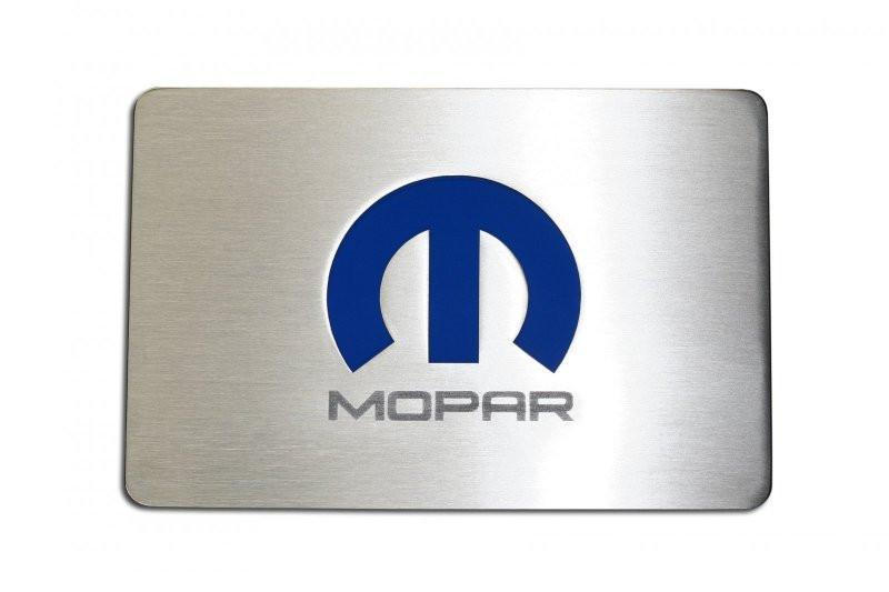 """Mopar"" Brushed Fuse Box Cover Overlay Dodge, Chrysler LX Cars"