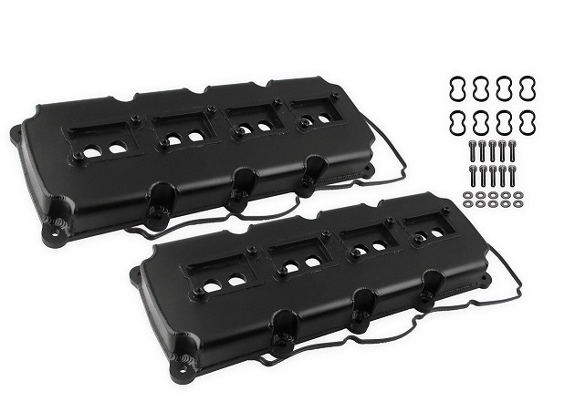 Mr. Gasket Black Aluminum Valve Covers 5.7L, 6.1L, 6.4L Hemi