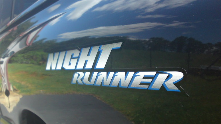 """Night Runner"" Bedside Decal Kit Dodge Ram, Dakota, SRT-10"