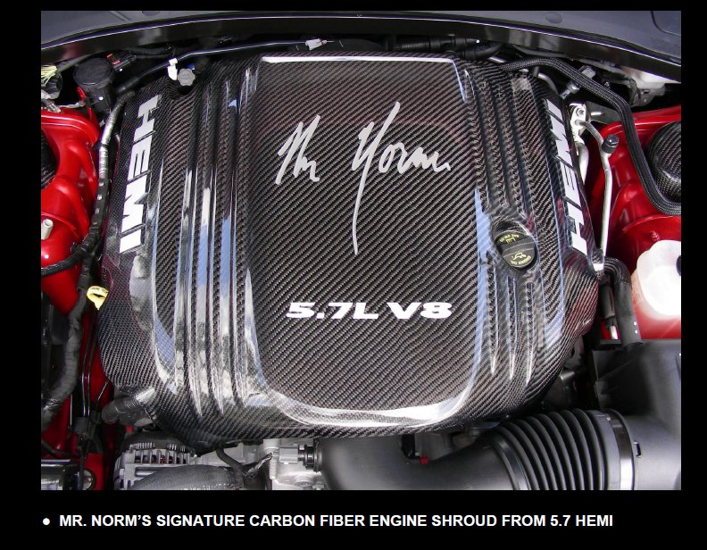 Mr Norm S Signature Carbon Fiber 5 7l Hemi Engine Cover Mr Norm S