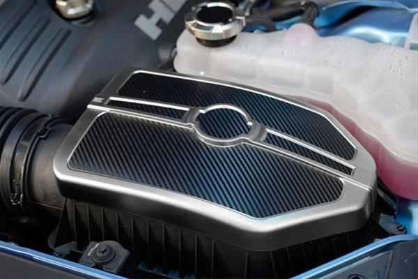 Silver-Carbon Fiber Air Box Filter Cover 11-up Dodge,Chrysler