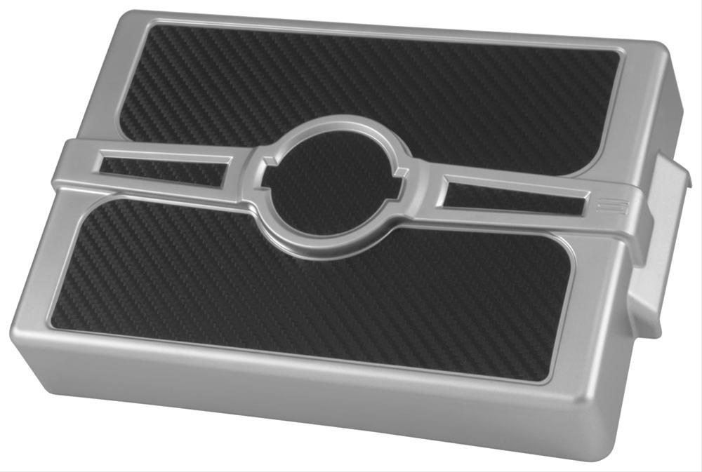 Silver-CarbonFiber Fuse Box Cover 05-14 Challenger, LX Cars