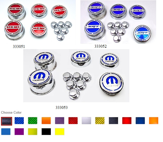 11pc Deluxe Engine Cap Covers Dodge, Chrysler, Jeep Hemi