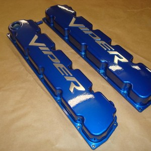 Mopar Powdercoated Valve Covers 04-06 Dodge Viper Motor