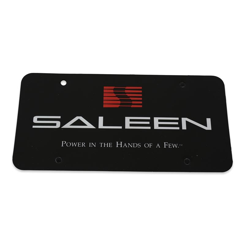 "Saleen ""Power in the Hands of the Few"" Black License Plate"