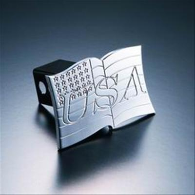 All Sales Billet USA Flag Hitch Plug