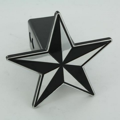 All Sales Billet Black Nautical Star Hitch Plug