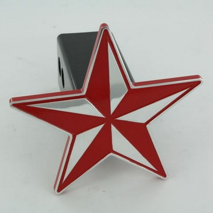 All Sales Billet Red Nautical Star Hitch Plug