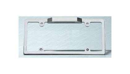 Carriage Works Billet Brushed Smooth License Plate Frame w/Light