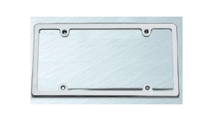 Carriage Works Billet Brushed Smooth License Plate Frame