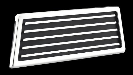AllSales Brushed Grille Style 3 In X 9 In Hood Vents Pair