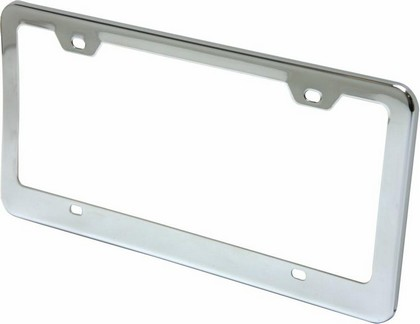 Autoloc Chrome Smooth License Plate Frame