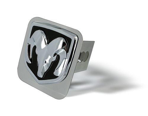 Au-Tomotive Gold Ram Head Chrome Hitch Plug