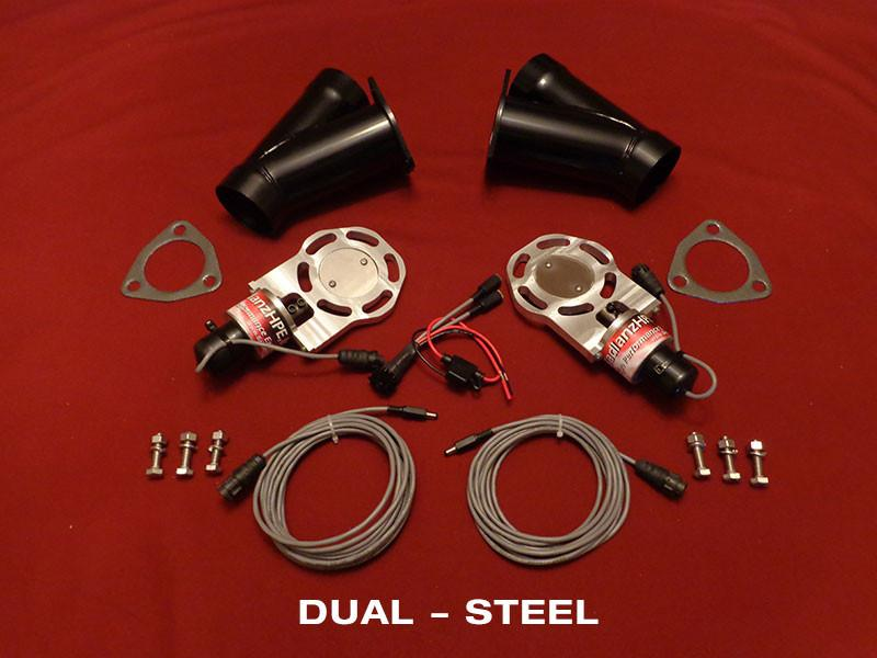 Badlanz HPE Dual 2.5 Inch Electric Exhaust Cutout Steel Y Kit